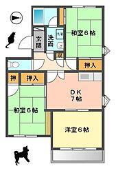 愛知県長久手市根の神の賃貸マンションの間取り