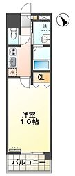 愛知環状鉄道 末野原駅 徒歩32分の賃貸マンション 5階1Kの間取り