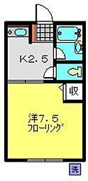 プレップアップ東台[205号室]の間取り