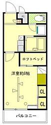 SKY&PLATEAU駅東(スカイ&プラトーエキヒガシ)[306号室]の間取り