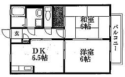 マピエスA・B棟[1階]の間取り