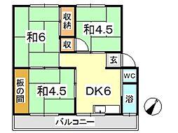 新倉敷マンション C[103号室]の間取り