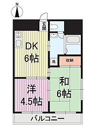第1吉田ハイツ[2階]の間取り