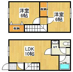 [テラスハウス] 北海道小樽市清水町 の賃貸【/】の間取り