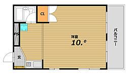 中山コーポラス[2階]の間取り