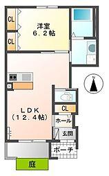 Jiro上之島[1階]の間取り