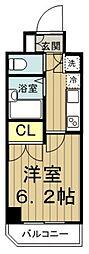 エルヴィエントアース武蔵関公園 8階1Kの間取り
