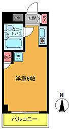 千葉県船橋市栄町1丁目の賃貸マンションの間取り