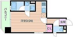 Osaka Metro御堂筋線 天王寺駅 徒歩5分の賃貸マンション 11階ワンルームの間取り