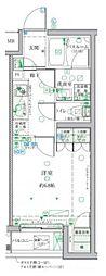 小田急小田原線 祖師ヶ谷大蔵駅 徒歩3分の賃貸マンション 5階1Kの間取り