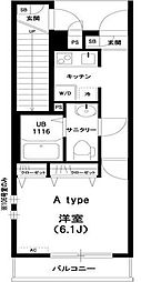 東京都小金井市貫井南町2丁目の賃貸アパートの間取り