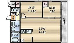 大阪府和泉市伯太町1丁目の賃貸アパートの間取り