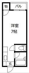 ジョイコーポ春日原[205号室]の間取り