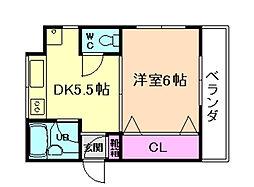 山仁シロヤマベルグ1[1階]の間取り
