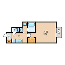 滋賀県東近江市山路町の賃貸アパートの間取り