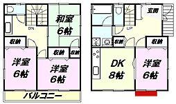 [一戸建] 東京都八王子市犬目町 の賃貸【/】の間取り