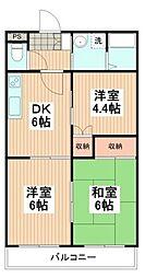 ニュ−ハイツ昭島[1階]の間取り