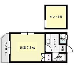 アミティエ南福岡[2階]の間取り