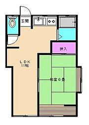 あずま荘[102号室]の間取り