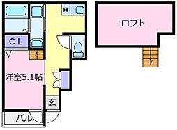 あんしん日置荘西町[1階]の間取り