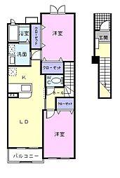 パルティール[2階]の間取り