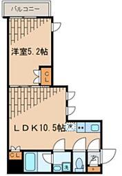 ビバリーホームズ石神井台 3階1LDKの間取り