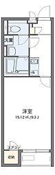 JR成田線 木下駅 徒歩9分の賃貸アパート 1階1Kの間取り