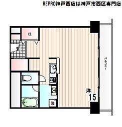 兵庫県神戸市西区学園東町4丁目の賃貸マンションの間取り