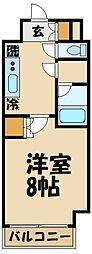 京王線 布田駅 徒歩2分の賃貸マンション 4階1Kの間取り