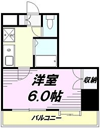 東京都八王子市元本郷町3丁目の賃貸マンションの間取り