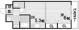 パークコート東須磨[2階]の間取り