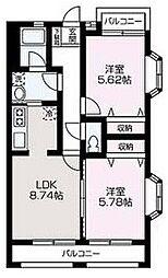 埼玉県和光市下新倉4丁目の賃貸アパートの間取り