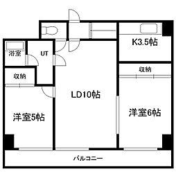 紫苑大通(シオン大通)[2階]の間取り