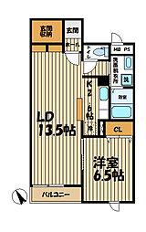 TSU・BA・KI B棟[2階]の間取り