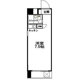 ロマネスク箱崎[9階]の間取り