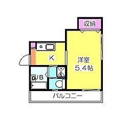 コスタブラバ・日吉[201号室]の間取り