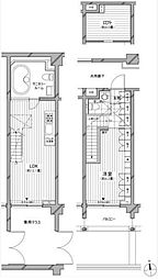 東京メトロ南北線 麻布十番駅 徒歩4分の賃貸マンション 1階1LDKの間取り