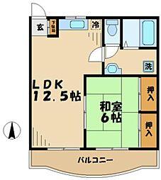 東京都多摩市百草の賃貸マンションの間取り