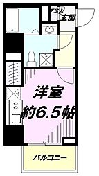 JR中央線 豊田駅 徒歩2分の賃貸マンション 5階1Kの間取り