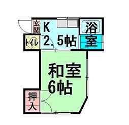 東京都練馬区貫井1の賃貸アパートの間取り