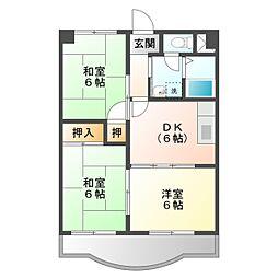 豊西マンション[1階]の間取り
