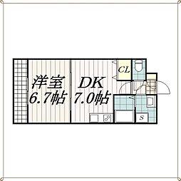 金太郎ヒルズ54[1階]の間取り
