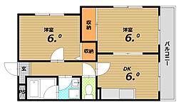 ラ・ヴィスタ東須磨[3階]の間取り