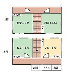 [一戸建] 福岡県福岡市東区原田2丁目 の賃貸【/】の間取り
