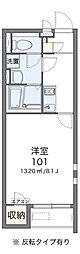 クレイノ鶴ヶ浜 2階1Kの間取り