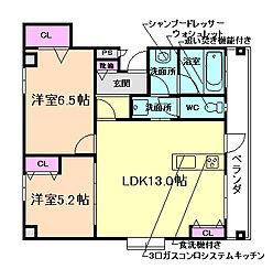 Grand jeteキセラ川西[4階]の間取り