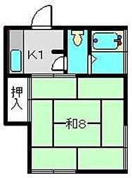 安斉アパート[2階]の間取り