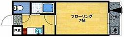 ユンゲルハイム神松寺[101号室]の間取り