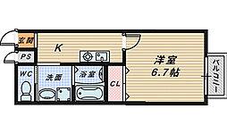 大阪府堺市堺区砂道町3丁の賃貸アパートの間取り