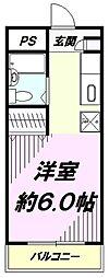 マリオン平山城址[105号室]の間取り